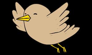 Vogel mit Flöhen